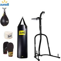 Everlast Dual Station Heavy Bag Stand, 100-lb, Speedbag,