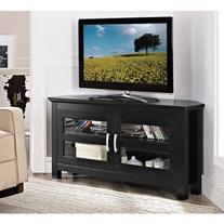 """Walker Edison Black Corner TV Stand for TVs up to 52"""","""