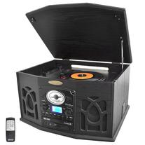 Pyle Home PTCDS7UIB Retro Vintage Turntable with CD/MP3/