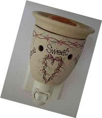 Home Sweet Home Stoneware Plug in Electric Tart Warmer Night