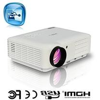 Video Projector HDMI, EUG LCD LED 3500 Lumens Home Cinema