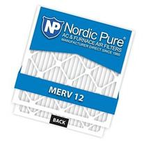 Nordic Pure 20x25x5 Honeywell Replacement MERV 12 Air