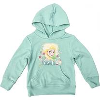 Official Disney Frozen Girls Hooded Fleece Lined Green