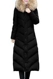 XIAOLV88 Women's Hooded Fashion Fur Collar Side Pockets Long