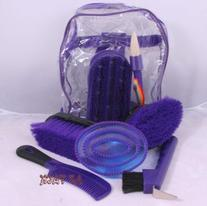 Childrens Horse Grooming Kit 8 Piece Set Back Pack Style