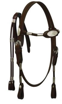 Showman Horse Pony Mini Leather Poco Bridle and Reins with