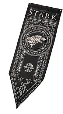 "Game of Thrones House Stark Tournament Banner, 18""x 60"
