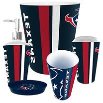Houston Texans NFL Complete Bathroom Accessories 5pc Set