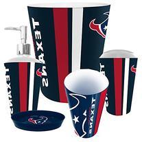 Houston Texans NFL Complete Bathroom Accessories 5pc Set