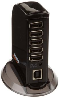 AmazonBasics 7 Port USB 2.0 Hub with 5V/4A Power Adapter