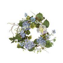 Nearly Natural 20 inch Hydrangea Wreath