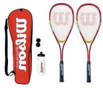 Wilson Hyper Team 500 Squash Racket Set With Squash Balls &