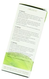 ORGANYC Hypoallergenic 100% Organic Cotton Internal Tampons