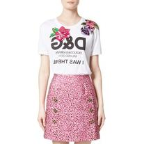 Women's Dolce&gabbana I Was There Embellished Logo Tee