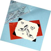 "I Love Shoes Heels Stamp, clear polymer cling 1.5""x2"","