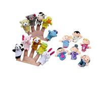 Qiyun 16Pcs Story Time Finger Puppets-10 Animals 6 People