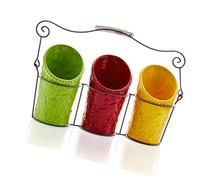 iEnjoyware Kitchen Utensil Holder Set  - 3 Ceramic Crocks &