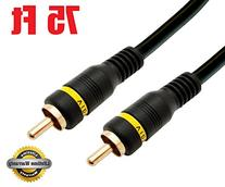 2RCA Male to 2RCA Male Home Theater Audio Cable - 75 Feet