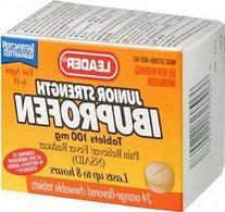 Leader Ibuprofen Junior Strength Orange Chewable - 24 tabs