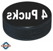 A&R Sports Ice Hockey Practice Puck, Black - 4 Pack