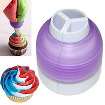 Polytree Icing Piping Bag Nozzle Converter Tri-color Cream