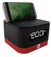 iHome iHM51R Space Saver Stereo Alarm Clock for Smartphones