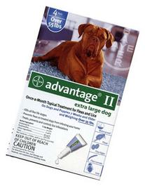Advantage II Once-A-Month Topical Extra Large Dog Flea
