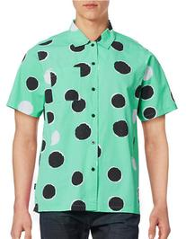 Stussy Illustrated Dot Sport Shirt-MINT-Medium