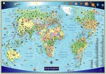 Illustrated Map of the World for Kids