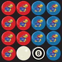 IMP-50-4020 Kansas Jayhawks NCAA 8-Ball Billiard Set