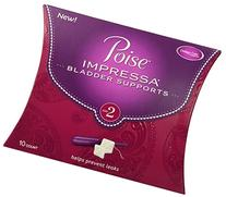 Poise Impressa Bladder Supports, Size 2, 1 Pack of 10 Count