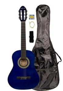 "36"" Inch 3/4 Scale Size Blue Student Beginner Acoustic"