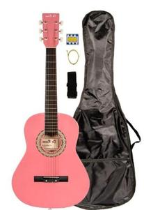 """36"""" Inch 3/4 Scale Size Pink Student Beginner Acoustic"""