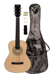 "36"" Inch 3/4 Scale Size Natural Student Beginner Acoustic"