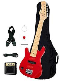 "1/2 Half Size Kids Red 30"" Inch Electric Guitar and"