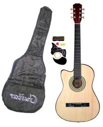 "38"" Inch Student Beginner Natural Acoustic Cutaway Guitar"