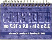 Index Cards Spiral Book