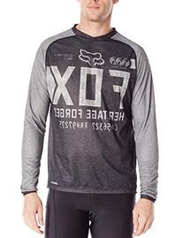 Fox Men's Indicator Long Sleeve Jersey, Heather Black,