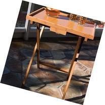 Lipper International Individual TV Table With Lip, Bamboo