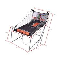Indoor Basketball Arcade Game Double Electronic Hoops shot 2