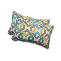 Pillow Perfect Outdoor/ Indoor Reiser Sterling Rectangular