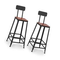 Belleze© Industrial Bar Stools Barstools Wood Counter