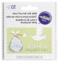 Wilton 1004-1564 Baby Reveal Stork Scratch Off Boy for