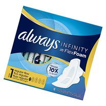 Always Infinity Size 1 Pads with Wings, Regular Absorbency,