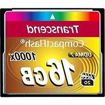 Transcend 16GB CompactFlash Memory Card 1000x