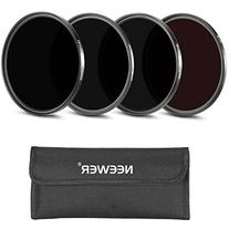 Neewer® 4 Pieces 52MM Infrared X-Ray IR Filter Set: IR720,