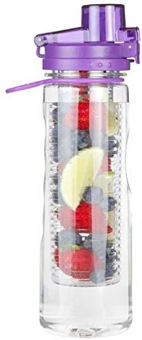Infusion Water Bottle Leak Proof Flip-top Sport Water Bottle