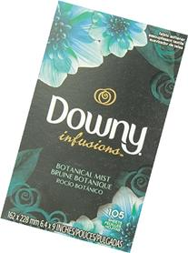 Downy Infusions Fabric Softener Sheets, Botanical Mist, 105