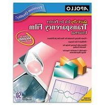* Inkjet Printer Transparency Film, Clear, 50/Box