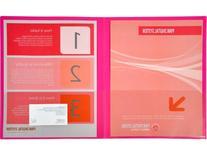 Lion Insta-Cover 2-Pocket Presentation Folder - Pack of 4,